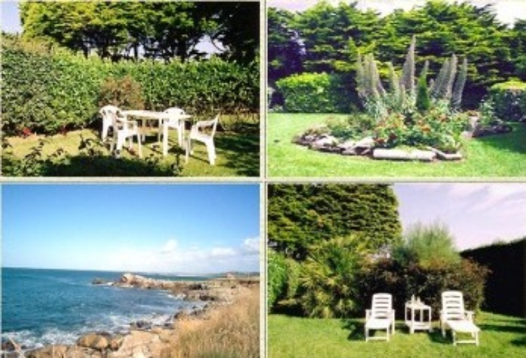 Large garden with sea access