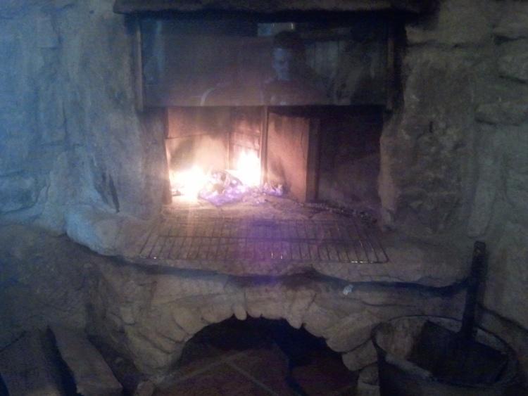 Offene Feuerstelle im Kaminstüberl