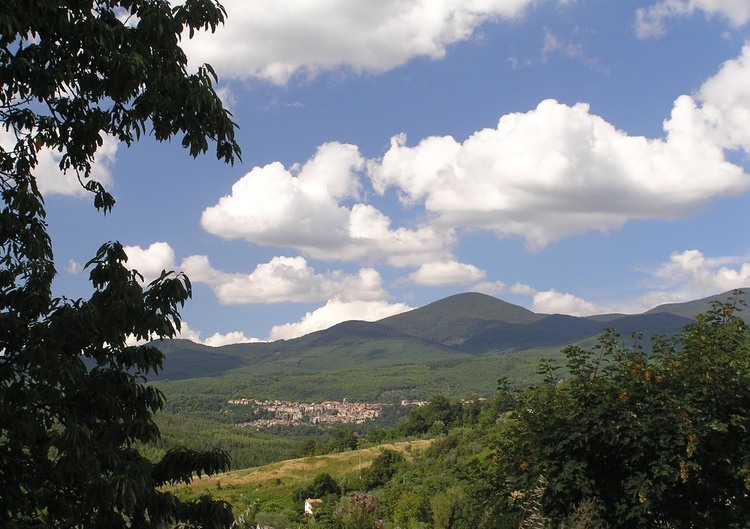View on Santa Fiora and Monte Amiata