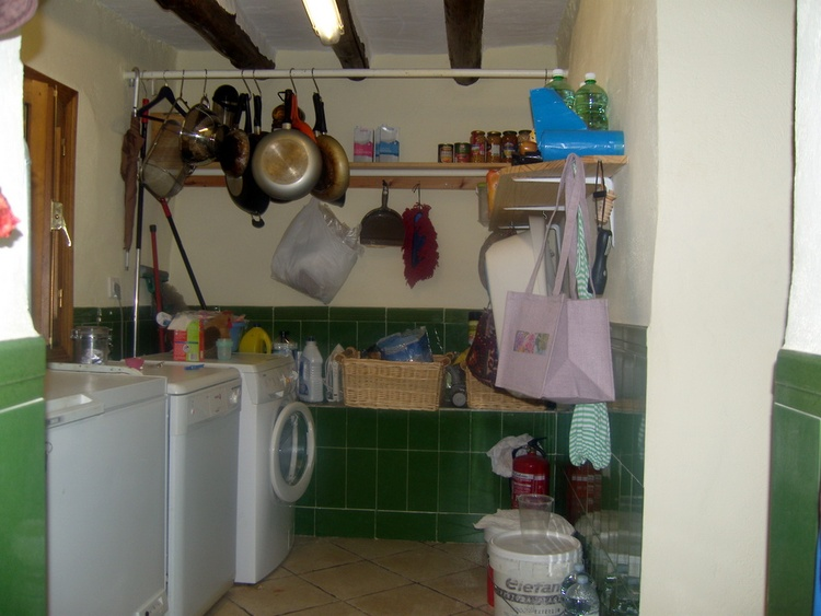 Kitchen Utility/Pantry With Washing Machine,Dishwasher And Deep Chest Freezer And Storage