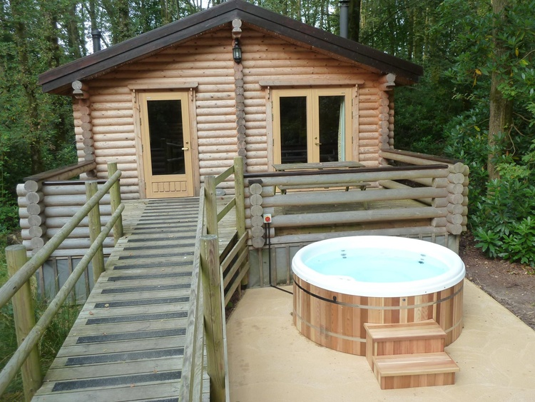 Optional private hot tub