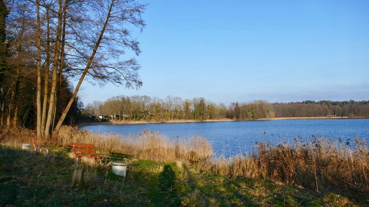 The Schönlager Lake can be so beautiful (first bathing spot from us)