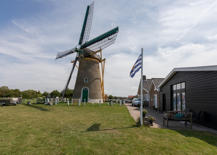Next to the windmill