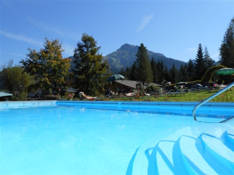 heated outdoor pool with panoramic cover
