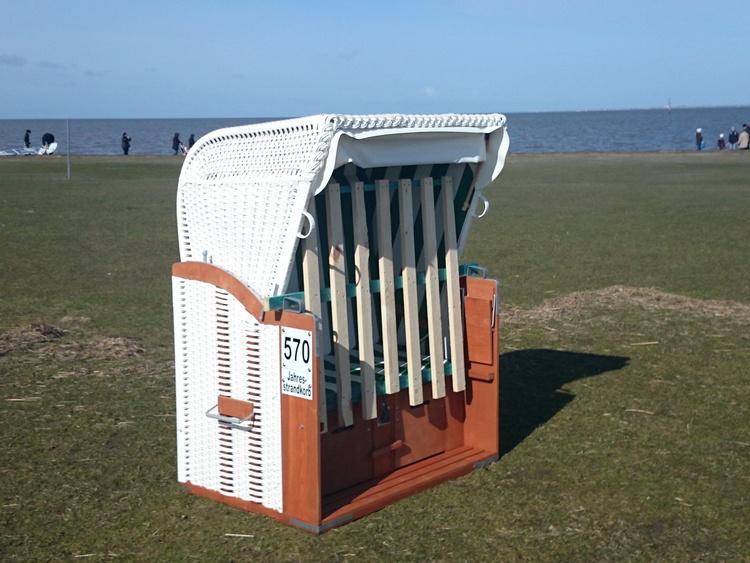 Strandkorb am Strand (Drachenwiese) Ferienwohnung Backbord im Preis inklusive