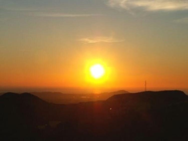 Sonnenaufgang vom Haus gesehen