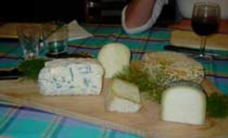 Cheese platter with local top produce