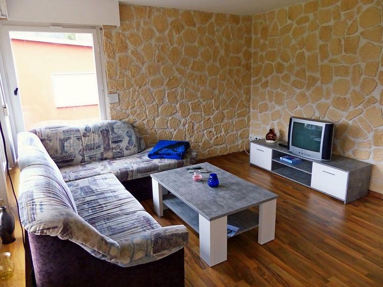 Eck-Couch im Wohnzimmer