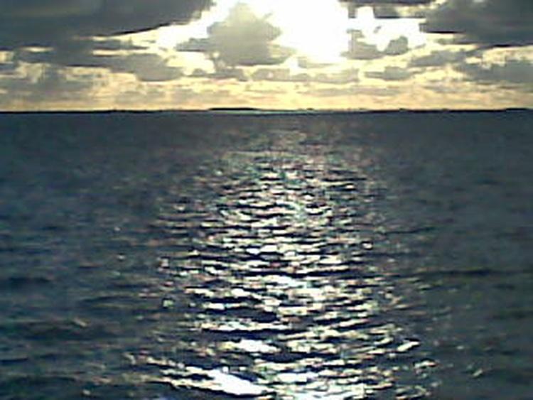 ruhiger Wellengang der Nordsee