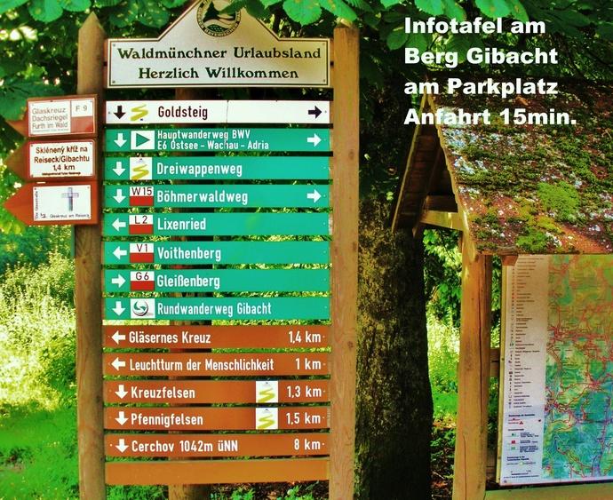 Wandertafel am Berg Gibacht (Hausnähe)