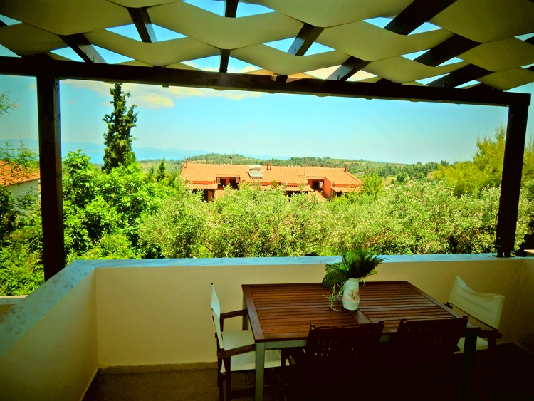 Holiday apartments with exellent view, Paliouri, Halkidiki, Greece, 2 km from the sea.
