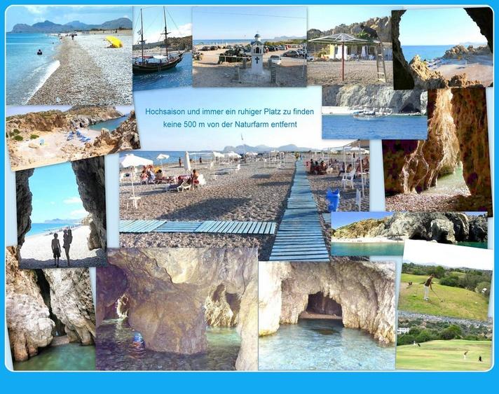Unser Strand mit Höhlensystem