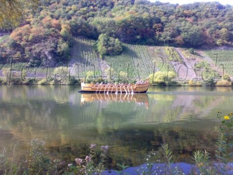 Wine ship on the Moselle