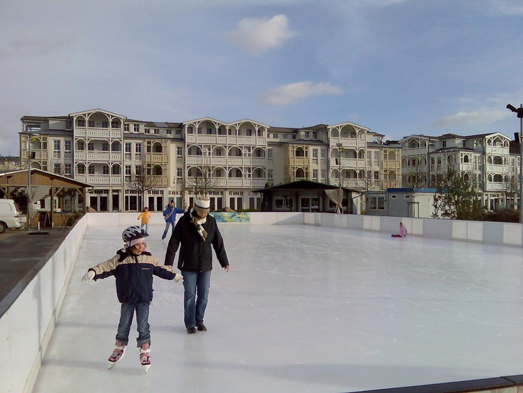Ice rink in winter