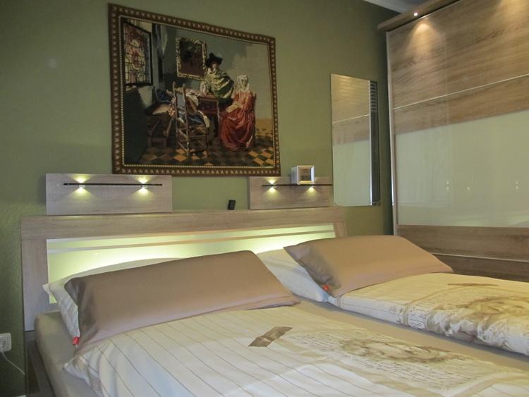 Schlafzimmerausschnitt