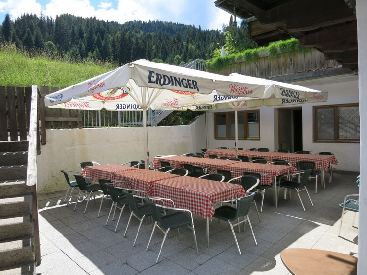 Terrace near the kitchen, with possibility to grill the food - romantical time