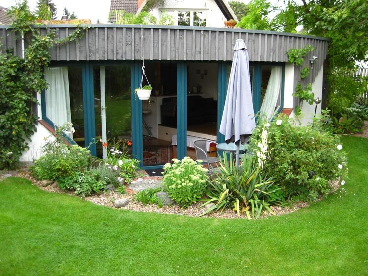 Die Terrasse der Ferienwohnung