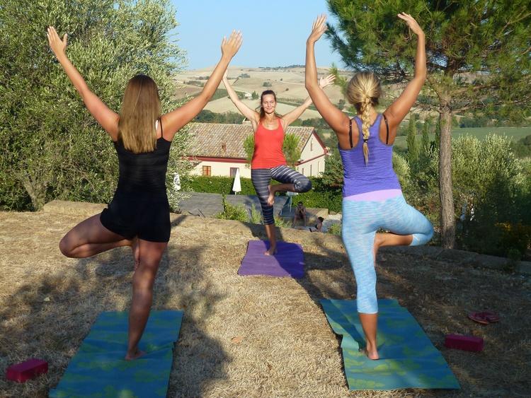 2x wöchentl. Yoga am Teich