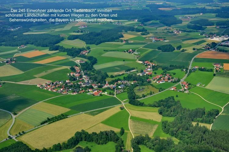 Der Ort Rettenbach, eingebettet in eine fantastische Landschaft und kurzen Wegen überall hin