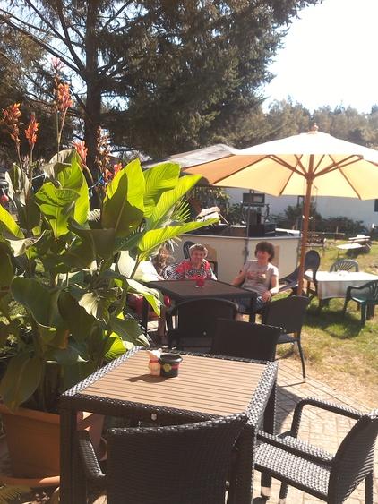Die Terrasse  unserer Gaststätte