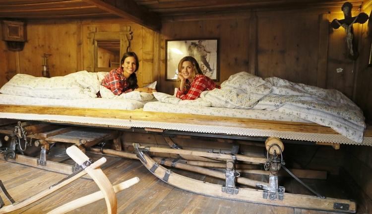 Schlittenzimmer mit 3 Einzelbetten