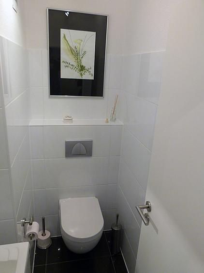 modernes separates WC in der strandnahen TRAUMWOHNUNG NO. 1