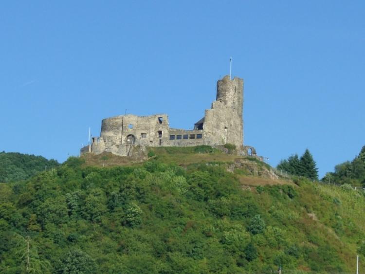 Vom Balkon beste Aussicht auf die Burg