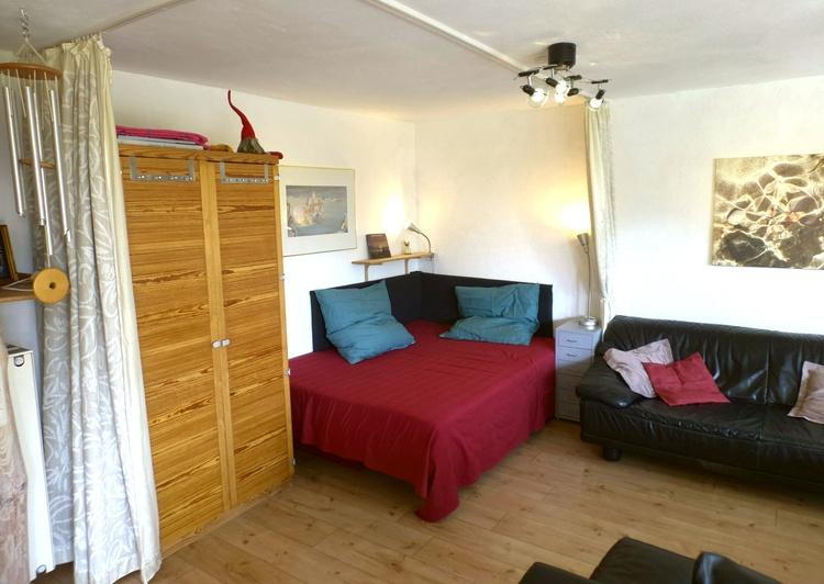 unteren Wohnung ,Wohnküche, beliebte Liegefläche