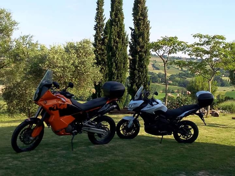 Motorradfahren - ideal in den Marken
