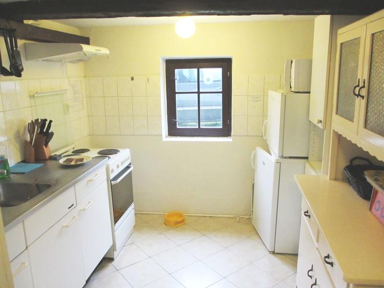 Kitchen with Freezer, Refrigirator, Microwave etc etc