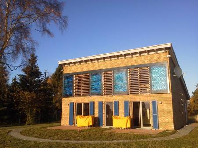 Design house at sunset