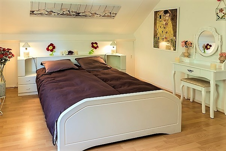 Master bedroom with romantic double bed