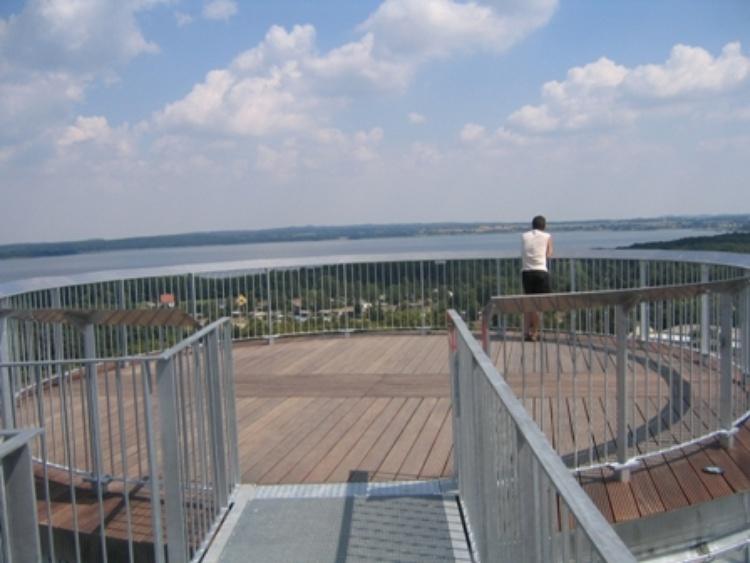 Blick vom Aussichtsturm auf den Grimnitzsee