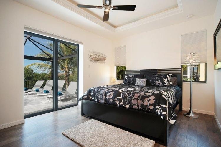 Master Schlafzimmer der Traumvilla in Cape Coral