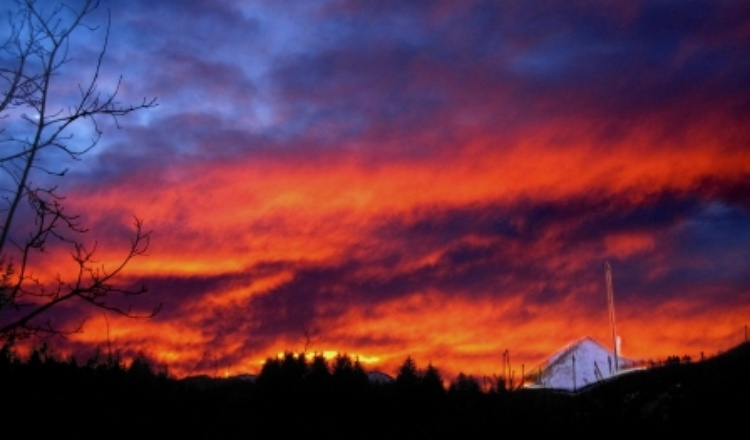 Sonnenuntergang vor der Terrasse