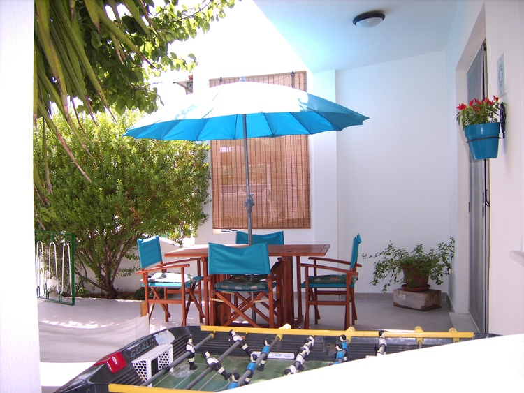 Terrace of the bungalow