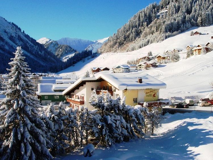 Wunderschönen Blick in Winter von unseren FeWo Steinbock 516