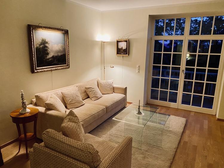 sofa livingroom in the evening