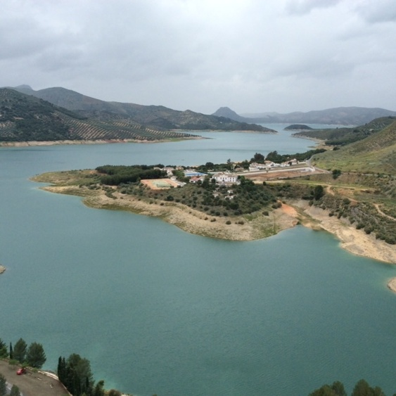 View Of Part Of Lake Iznajar Which Borders The Provinces Of Cordoba, Malaga And Granada