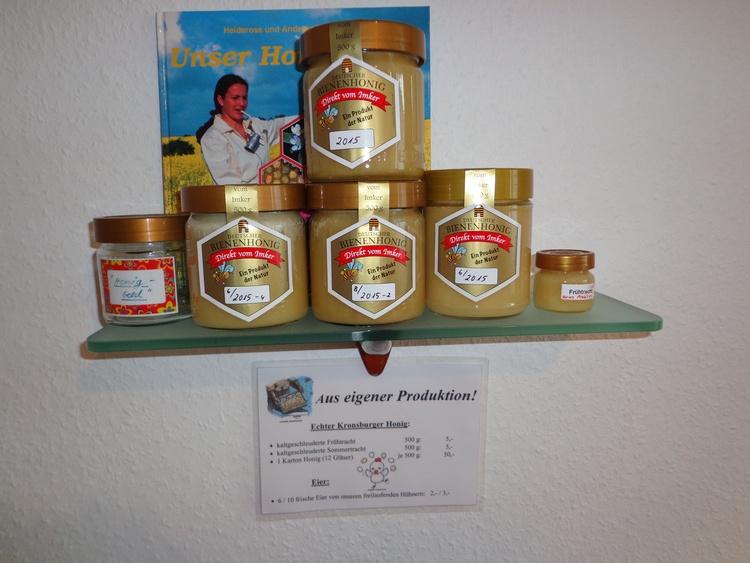 Honig aus eigener Produktion