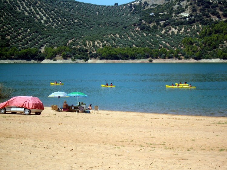 Sporting Center Lake Iznajar Where You Can Drive Down To The Waters Edge